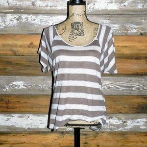 Striped Top w/ Metallic Thread